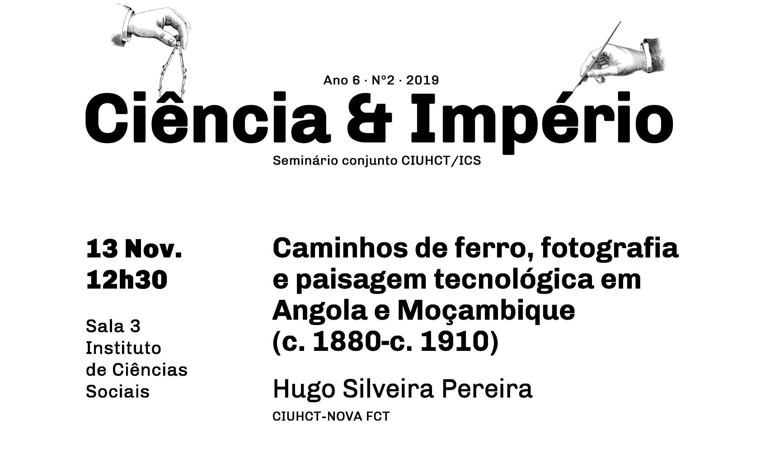 Caminhos de ferro, fotografia e paisagem tecnológica em Angola e Moçambique: 'Ciência e Império'