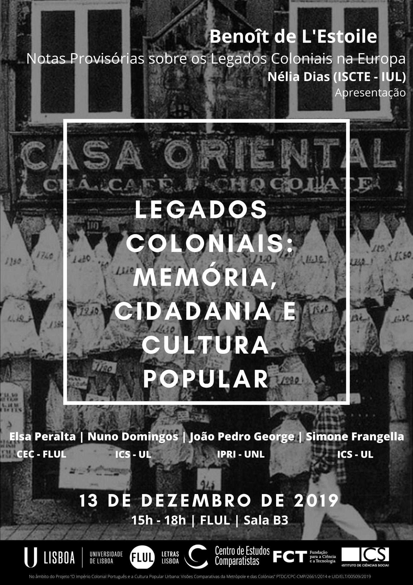 Legados coloniais: memória, cidadania e cultura popular